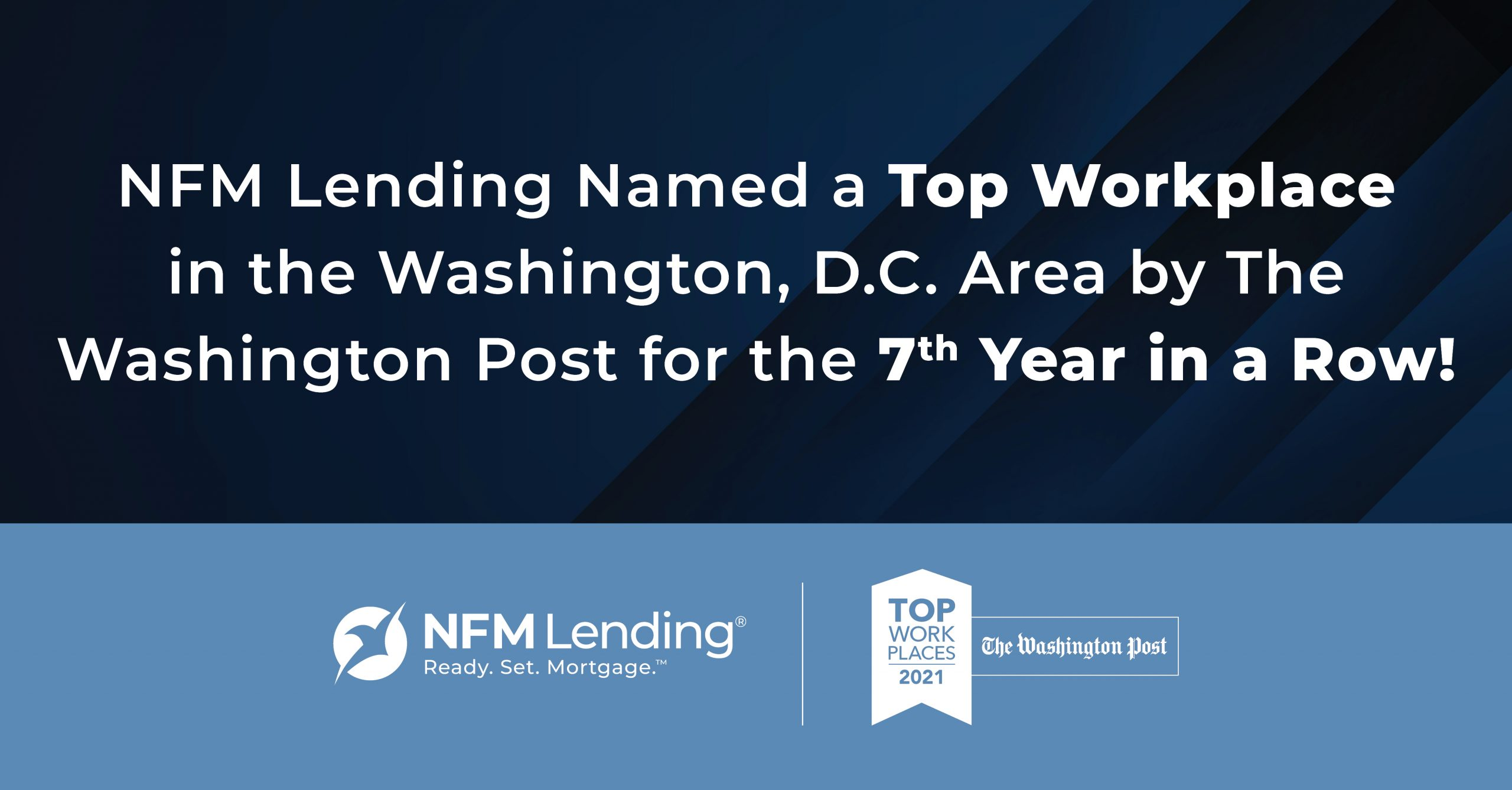 2021 Top WorkplaceIn the DC Area for 7th year