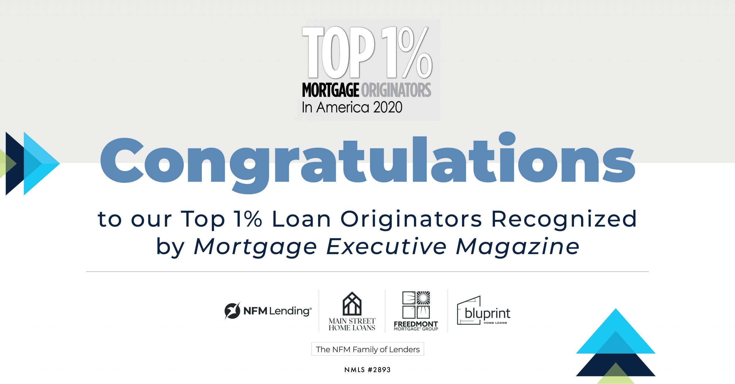Mortgage Executive Magazine_Top1Percent_2020_PressRelease