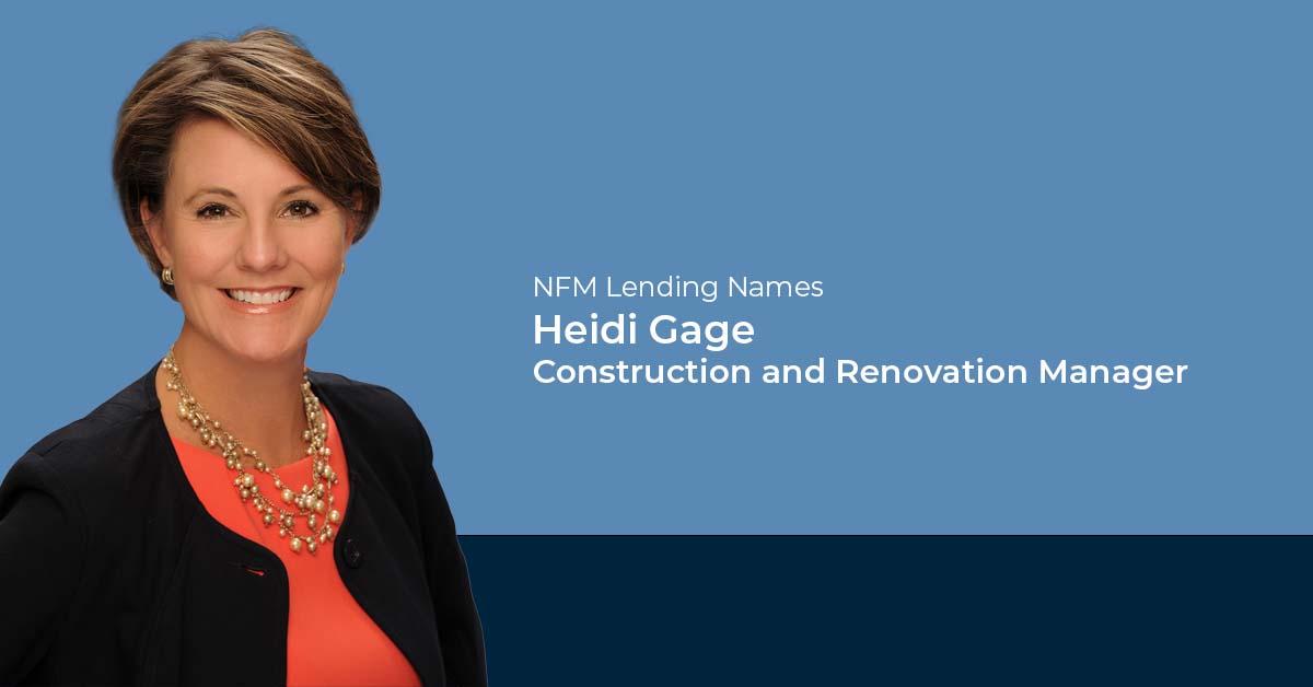 Heidi Gage Named Renovation Manager