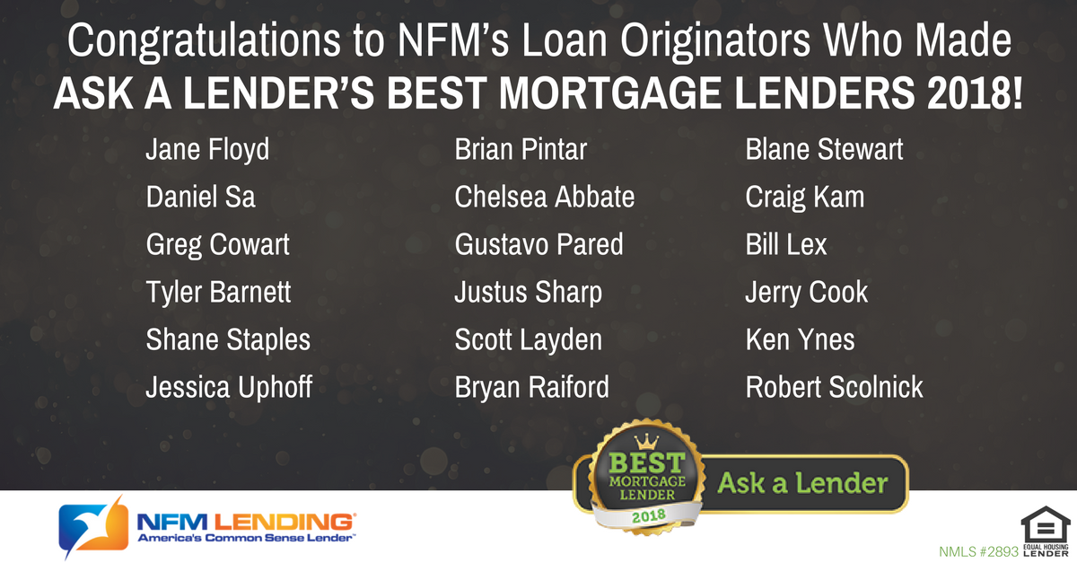 Nfm Lending Loan Originators Ranked As Best Mortgage Lenders 2018