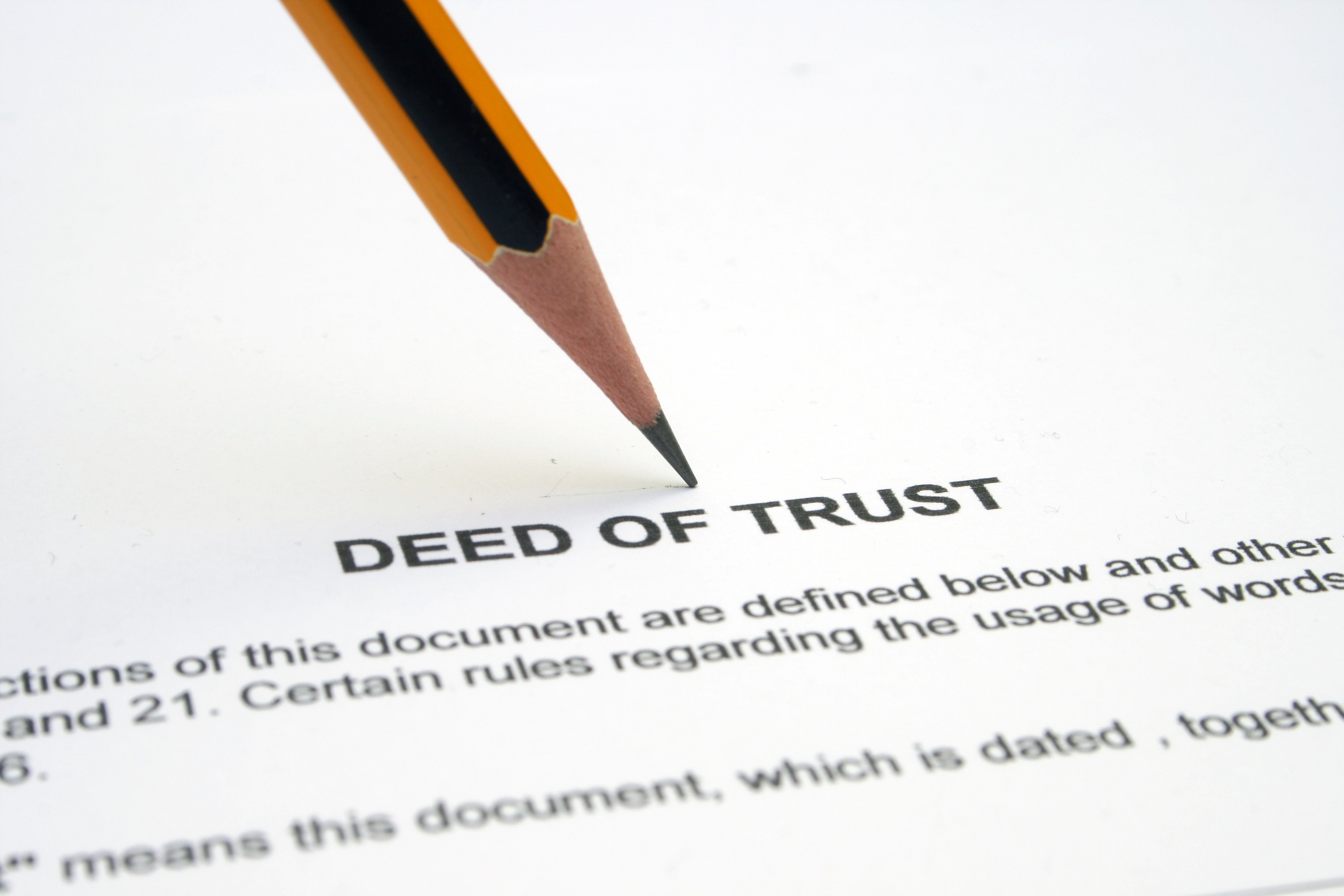 the differences between the deed, the note, and the deed of trust