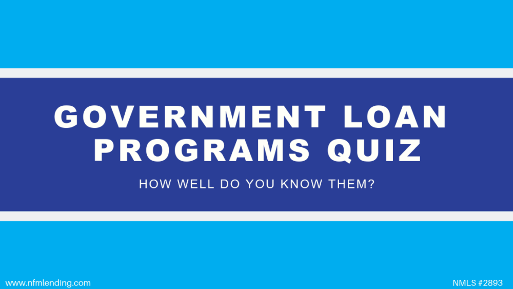 Government Loan Programs