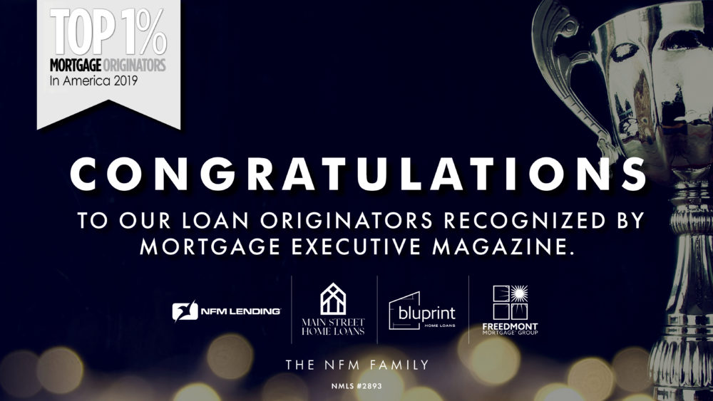 Top 1% Mortgage Originators in America 2019