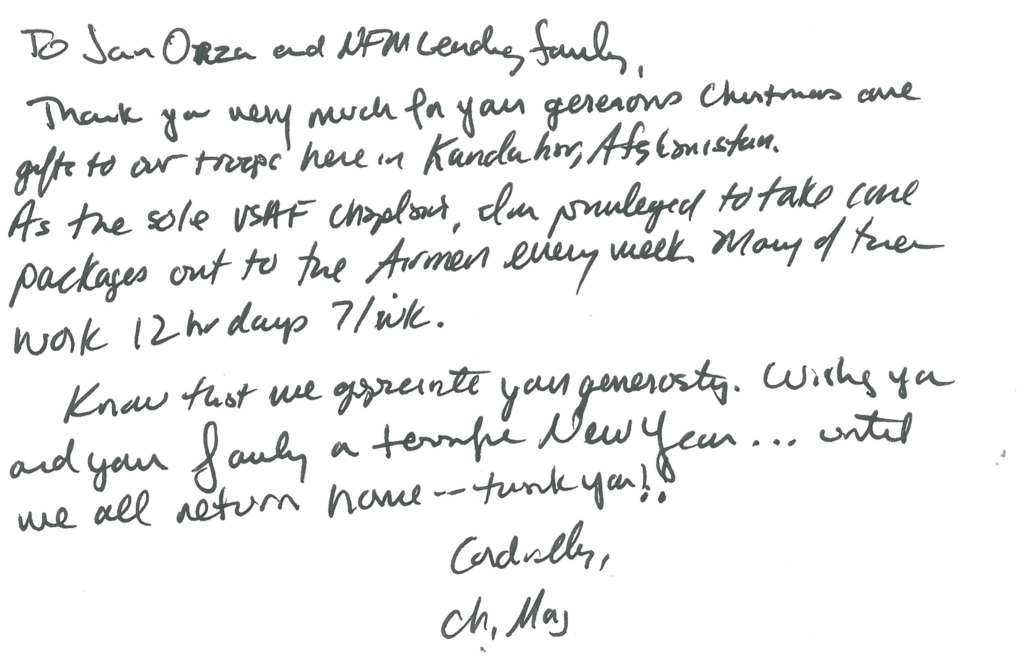 Letter from Soldiers 7