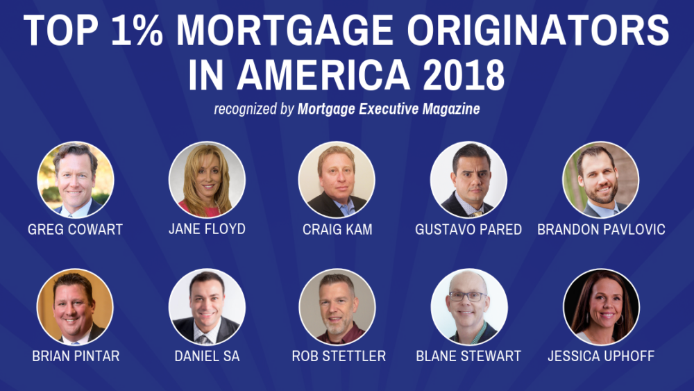 Top 1% Mortgage Originators Mortgage Executive Magazine