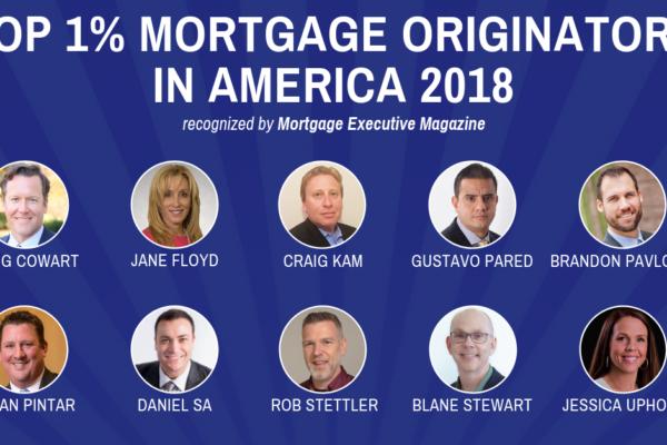 Top 1% Mortgage Originators Mortgage Executive Magazine