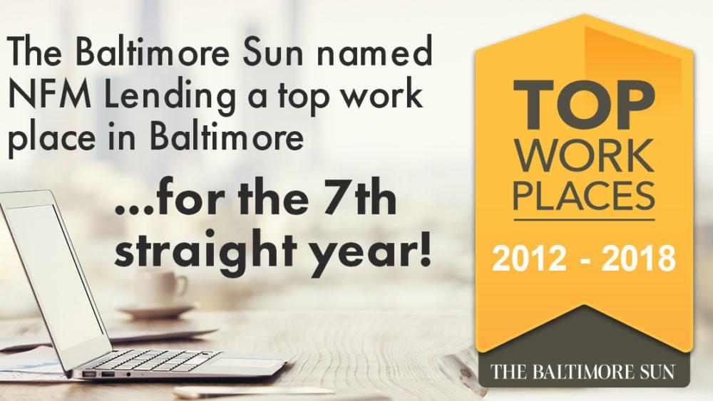 Baltimore Sun Top Work Place 2018