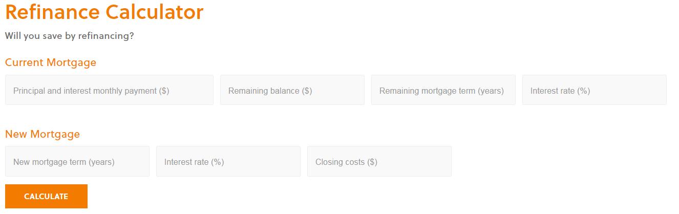refinance mortgage calculators
